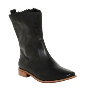 Jack Rogers Black Leather Carly Boot EUC